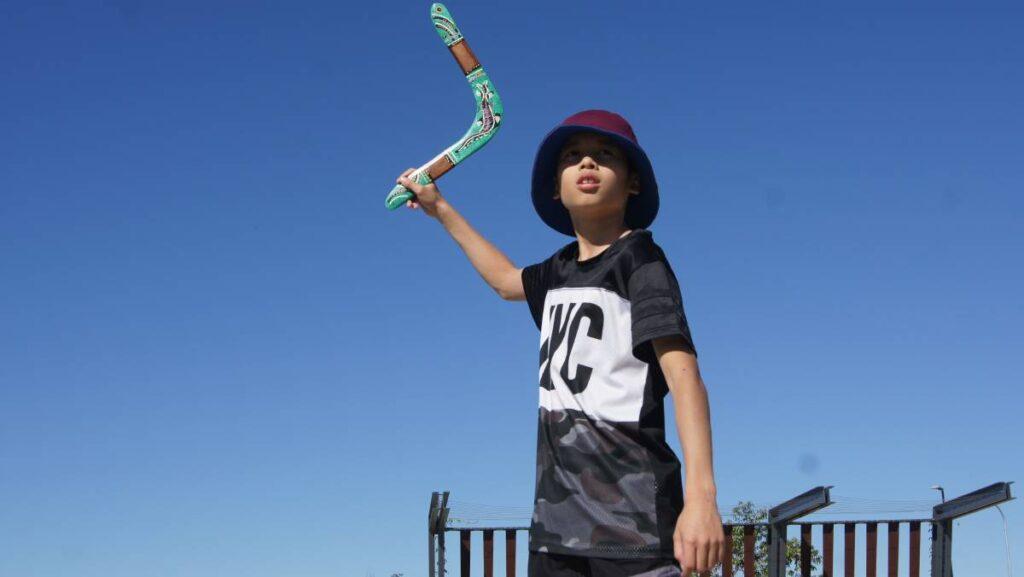 jeu extérieur boomerang enfant