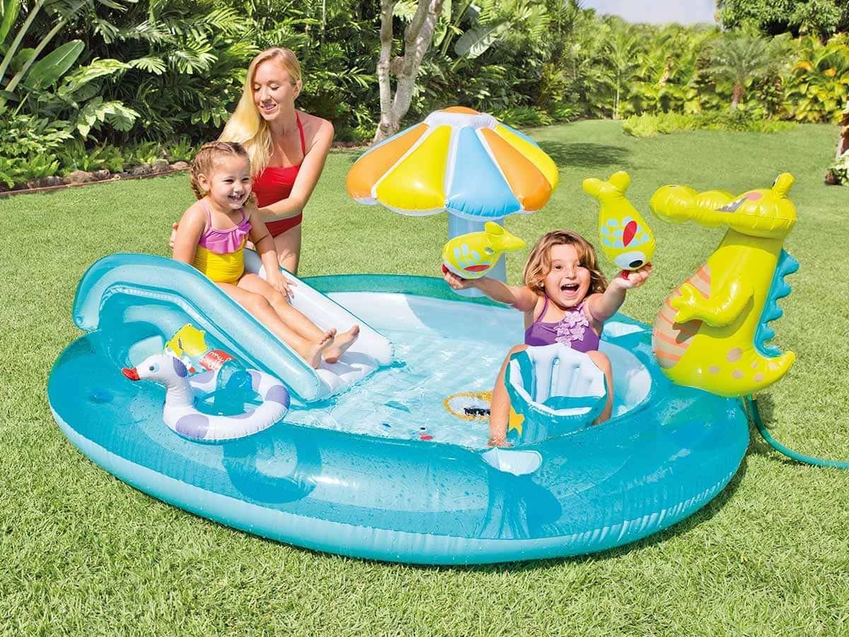 piscine aire de jeux gonflable